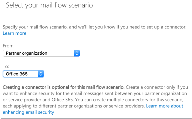 Office 365 as SMTP server mail flow settings