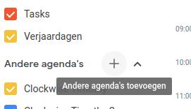 agenda toevoegen
